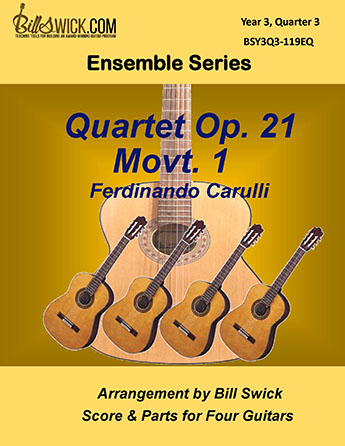 Bill Swick's Year 3, Quarter 3 - Advanced Ensembles for Quartets