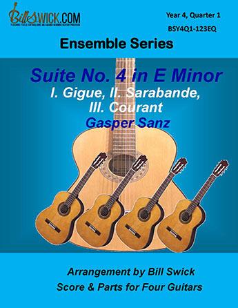 Bill Swick's Year 4, Quarter 1 - Advanced Ensembles for Quartets