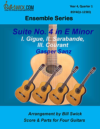 Bill Swick's Year 3, Quarter 1 - Advanced Ensembles for Quartets