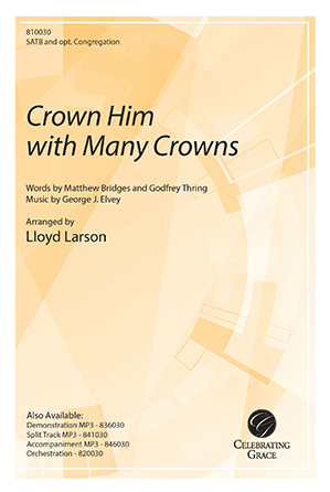 Crown Him with Many Crowns church choir sheet music cover