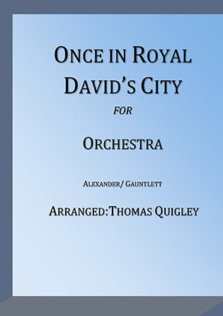 Once in Royal David's City myscore sheet music cover
