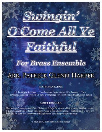 Swingin' O Come All Ye Faithful - for Brass Ensemble