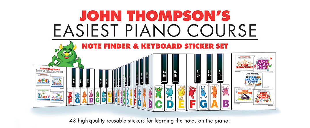 John Thompson's Easiest Piano Course : Note Finder & Keyboard Sticker Set