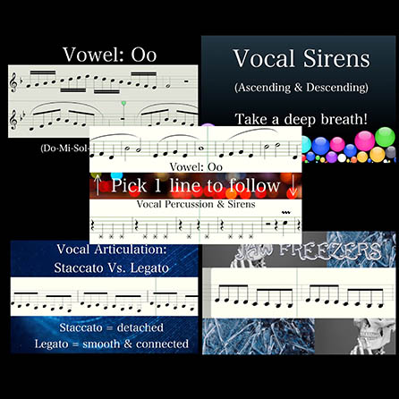 Choir Vocal Warm-Up Video Package