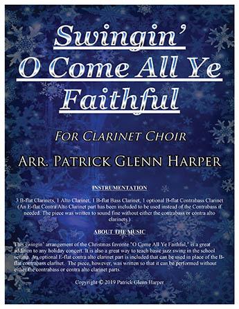 Swingin' O Come All Ye Faithful - for Clarinet Choir