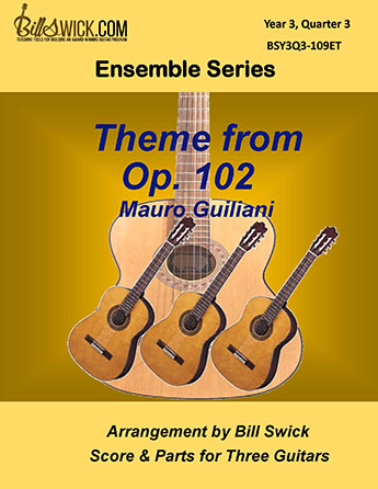 Bill Swick's Year 3, Quarter 3 - Advanced Ensembles for Three Guitars