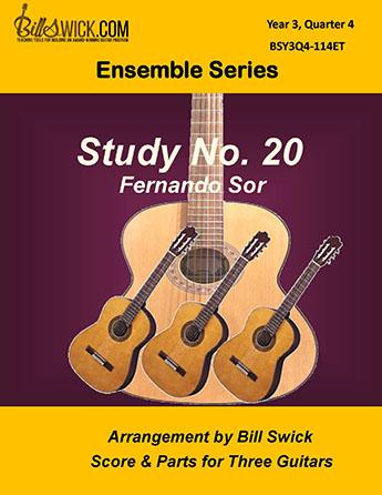 Bill Swick's Year 3, Quarter 4 - Advanced Ensembles for Three Guitars