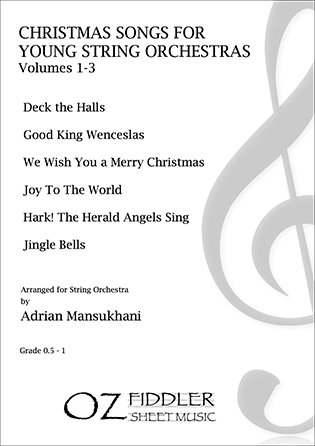 Christmas Songs for Young String Orchestras - Complete Volumes 1-3