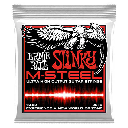 Ernie Ball Slinky M-Steel Electric Guitar Strings 10-52 Gauge