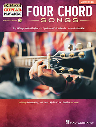 Deluxe Guitar Play-Along, Vol. 13: Four Chord Songs guitar sheet music cover
