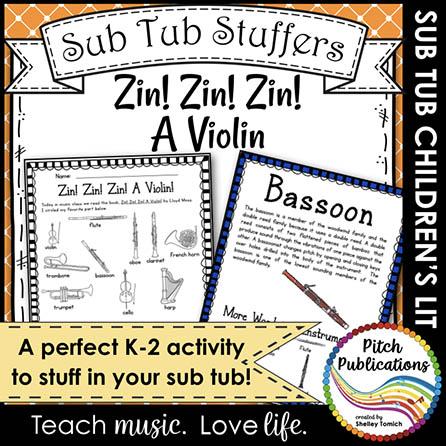 Music Sub Tub Stuffers: Zin! Zin! Zin! A Violin