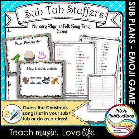 Music Sub Tub Stuffers: Emoji Nursery Rhythm/Folk Song Game