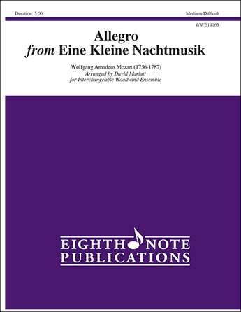 Allegro from Eine Kleine Nachtmusik Woodwind Ensemble
