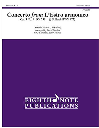 Concerto from L'Estro Armonico Clarinet Ensemble