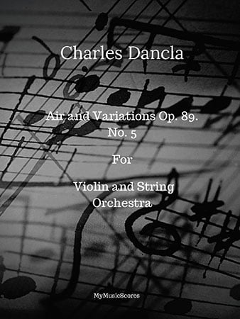 Dancla Air Varie Op.89 No. 5 for Violin and String Orchestra