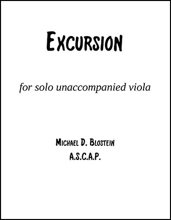 Excursion for solo Viola