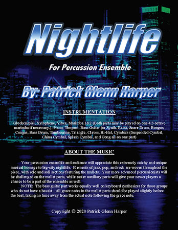 Nightlife for Percussion Ensemble