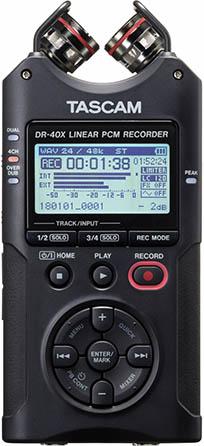 DR-40X Four Track Digital Audio Recorder & USB Audio Interface
