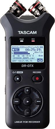DR-07X Stereo Handheld Digital Audio Recorder & USB Audio Interface
