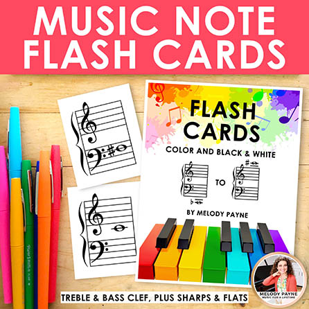 Music Note Flash Cards: Treble & Bass Notes on the Grand Staff