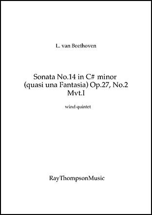 Piano Sonata No.14 in C# minor (Sonata quasi una Fantasia)(Moonlight   Sonata) Op.27 No.2 Mvt.I (Transposed Into D minor)