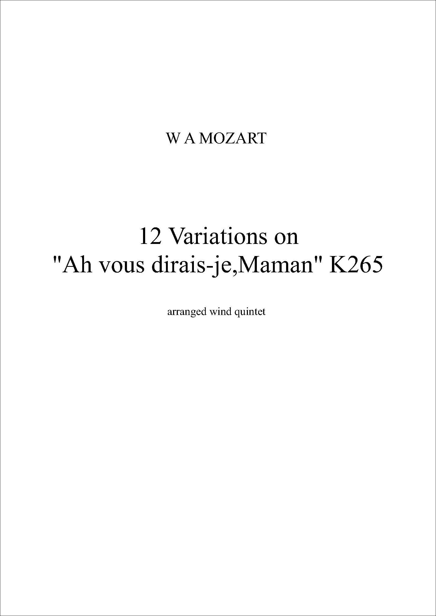 12 Variations on