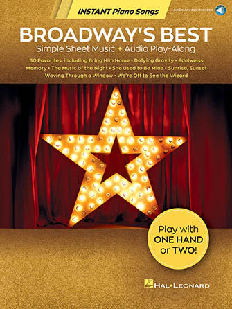 Broadway's Best Simple Sheet Music and Audio Play Along