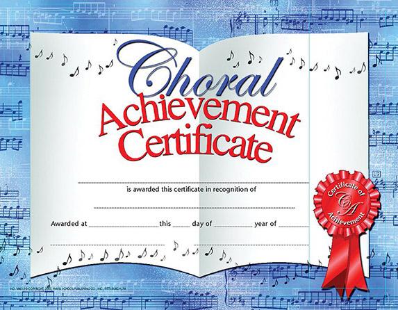 Choral Achievement Certificate