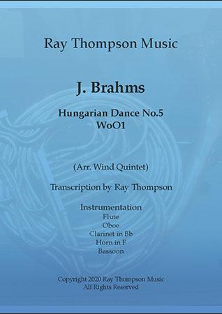 Brahms: Hungarian Dance No.5 - wind quintet