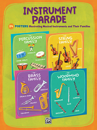 Instrument Parade Set of 24 Posters