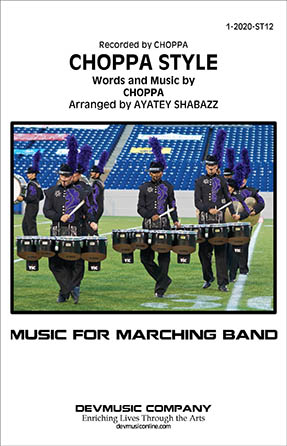 Choppa Style marching band sheet music cover