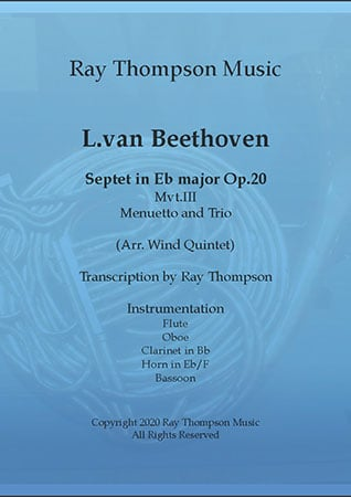 Beethoven: Septet in Eb major Op.20III.Menuetto and Trio - wind quintet