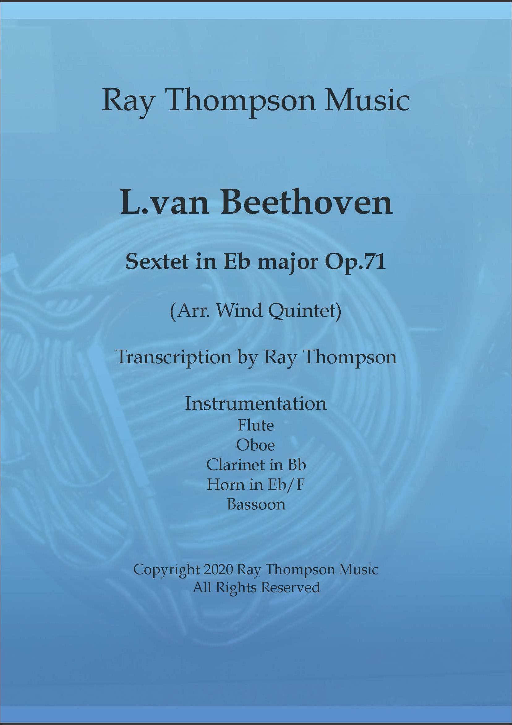Beethoven: Sextet in Eb Op.71 - wind quintet