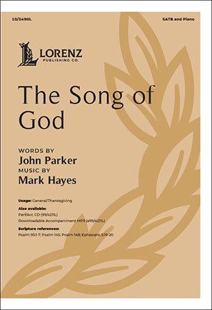 The Song of God church choir sheet music cover