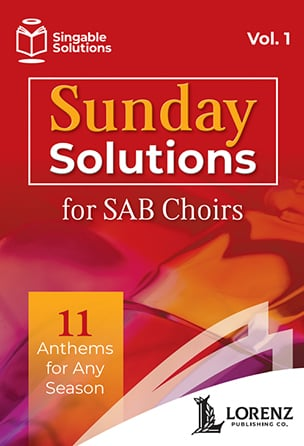 Sunday Solutions for SAB Choirs church choir sheet music cover