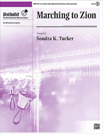 Marching to Zion handbell sheet music cover