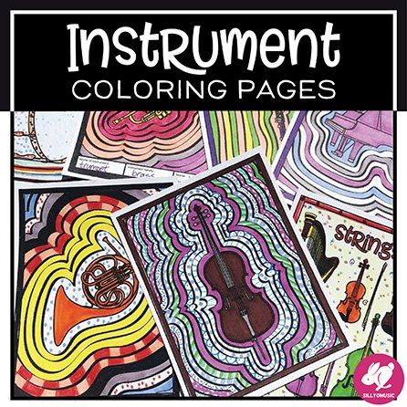Music Coloring Pages: Instrument Familes of the Orchestra