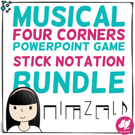 Flashcards with 4 Corners/Section - Stick Notation Bundle