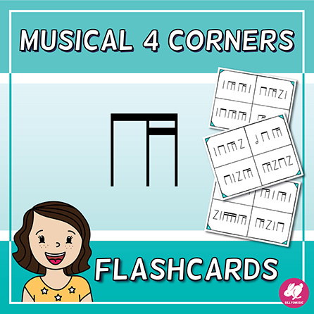 Flashcards with 4 Corners/Section - Stick Notation