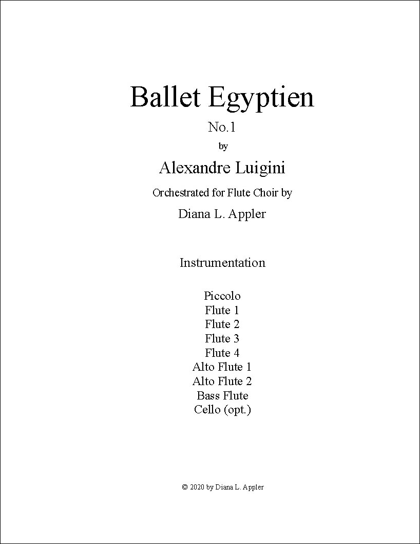 Ballet Egyptien, No. 1