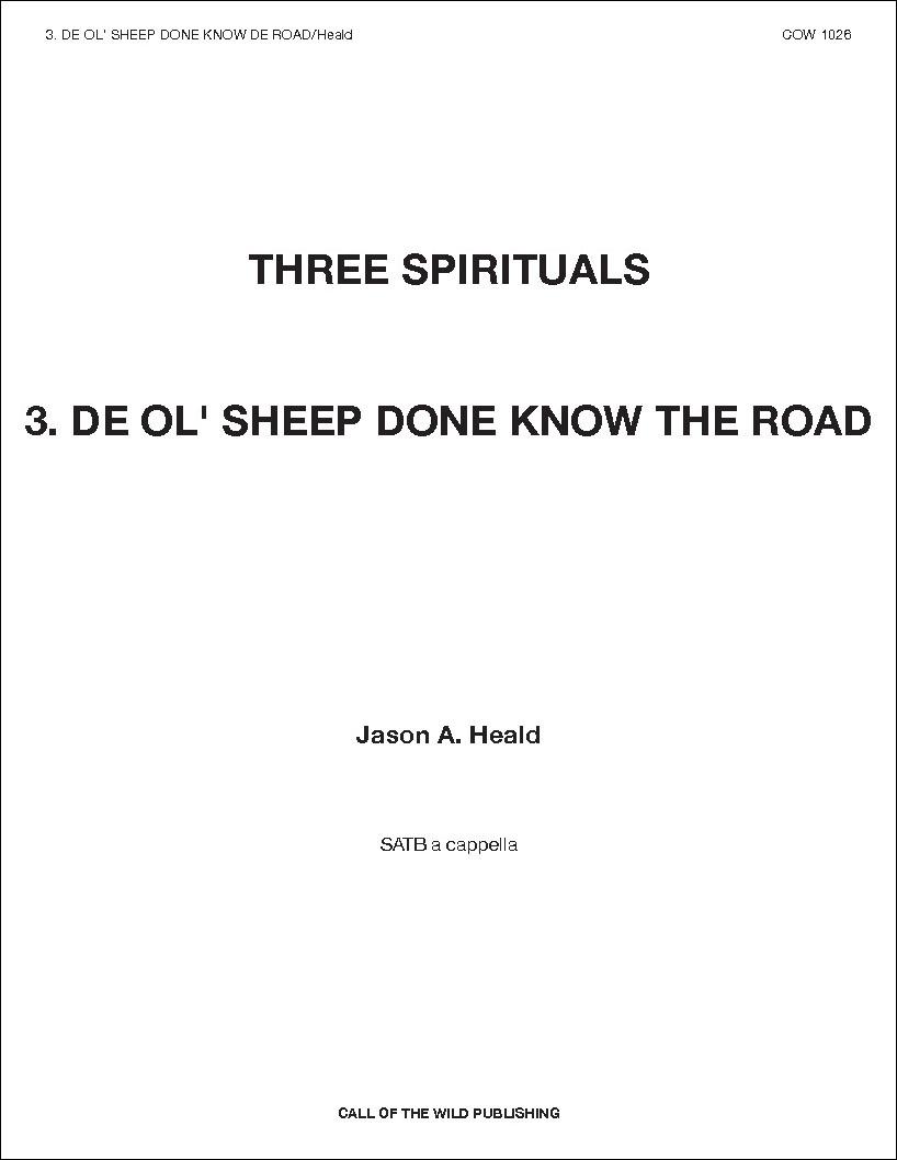 De Ol' Sheep Done Know De Road