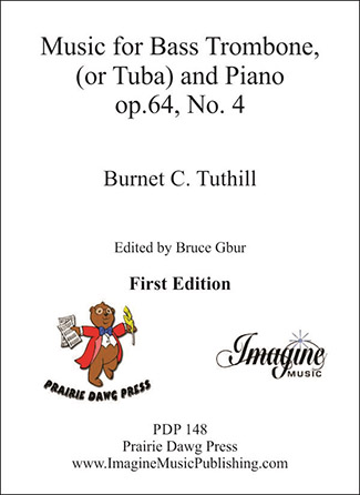 Music for Bass Trombone or Tuba and Piano Op.64, No.4
