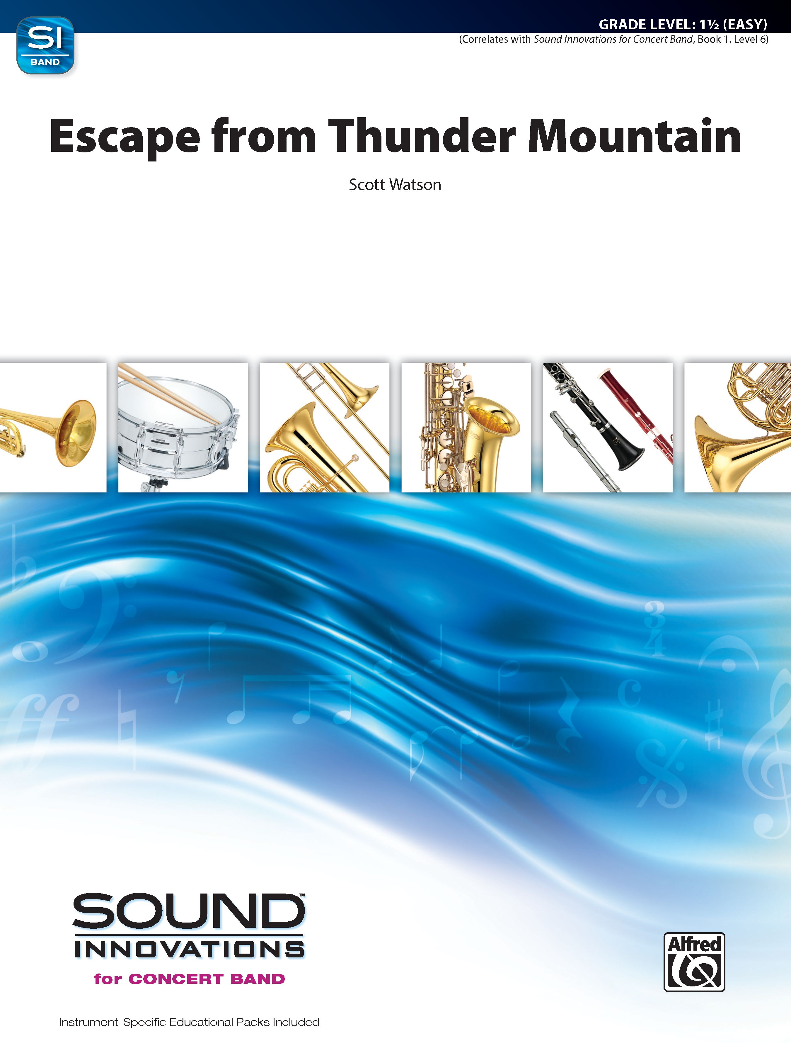 Escape from Thunder Mountain choral sheet music cover