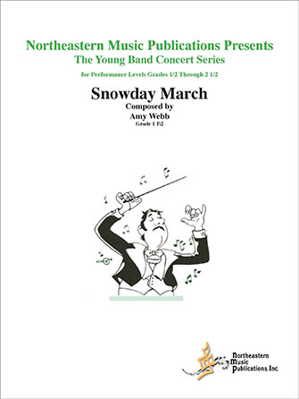 Snow Day March band sheet music cover