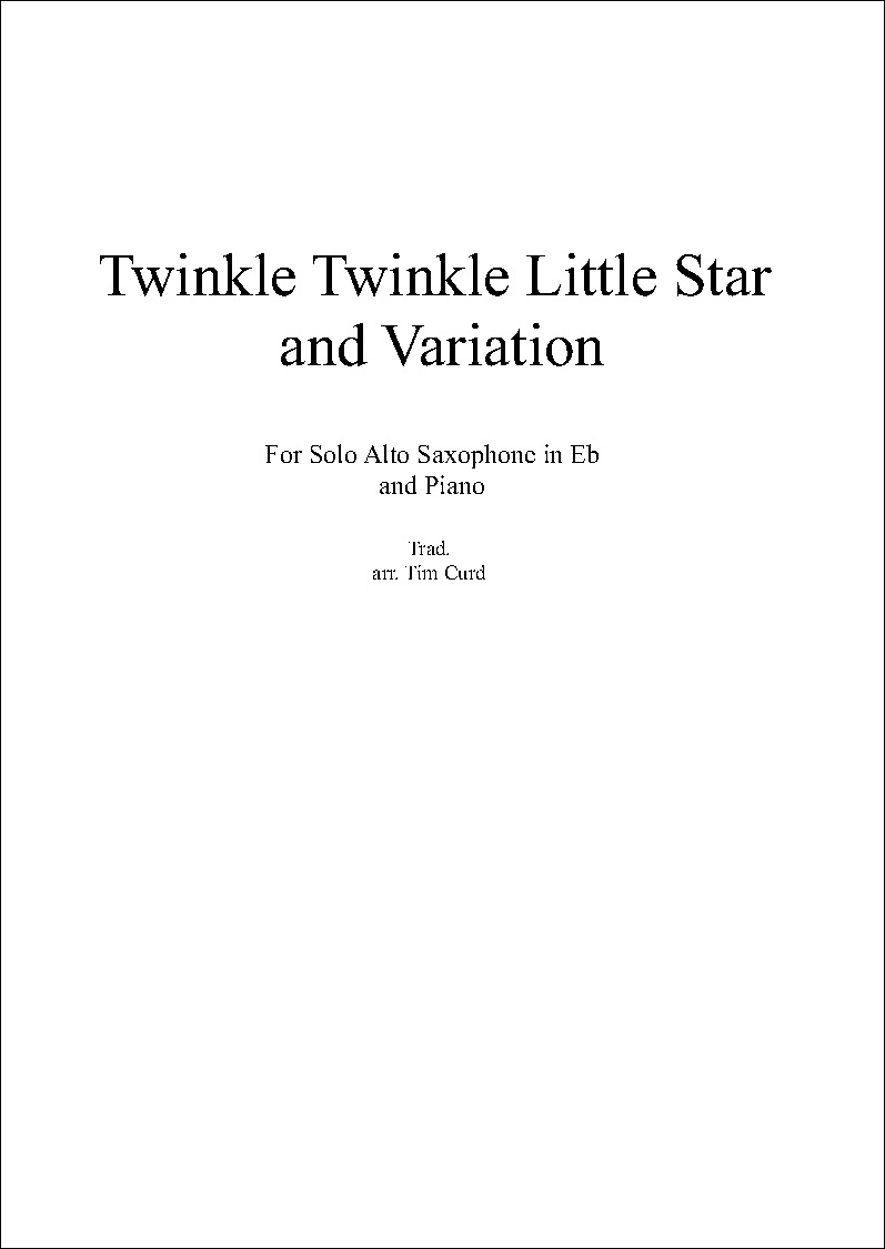 Twinkle Twinkle Little Star and Variation