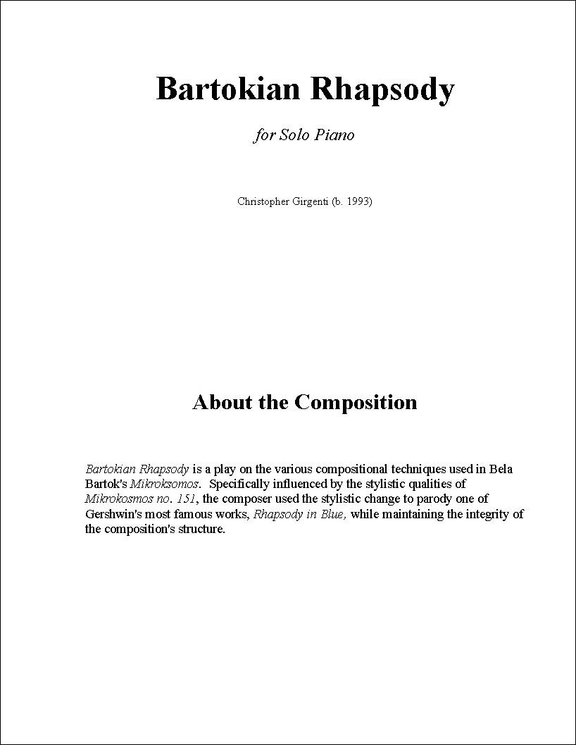 Bartokian Rhapsody
