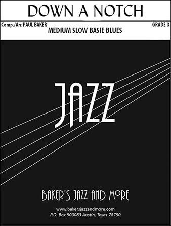 Down a Notch jazz sheet music cover