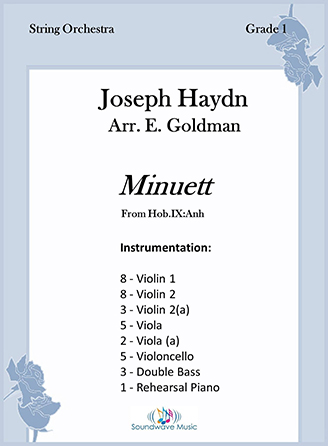 Minuett orchestra sheet music cover