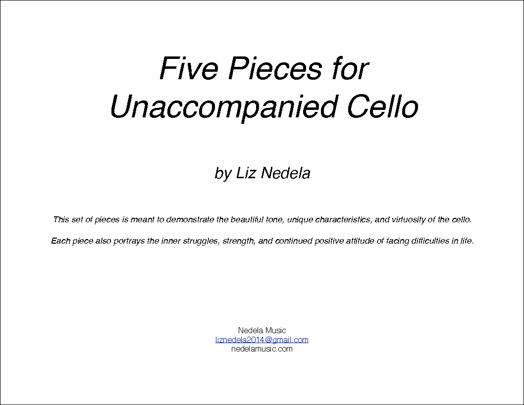 Five Pieces for Unaccompanied Cello