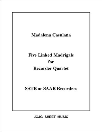 Five Renaissance Quartet Madrigals